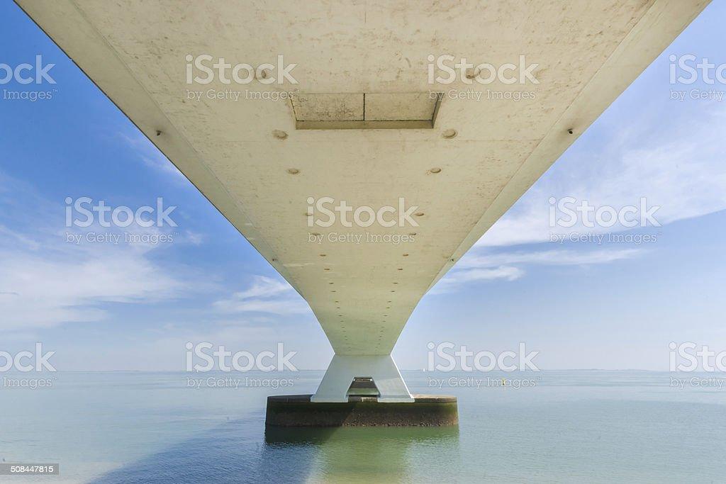 Long Zeelandbrug, Zeeland, Netherlands stock photo
