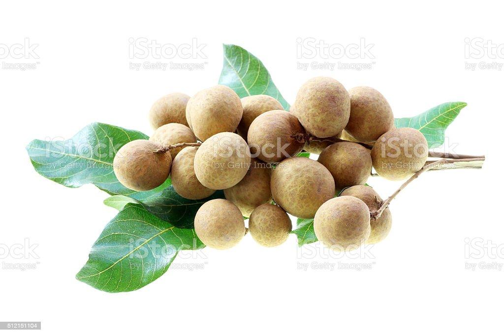 Longan ,Asian fruit isolated with white background stock photo