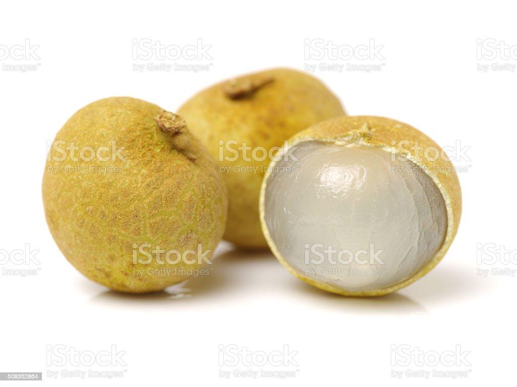 longan - exotic fruit stock photo