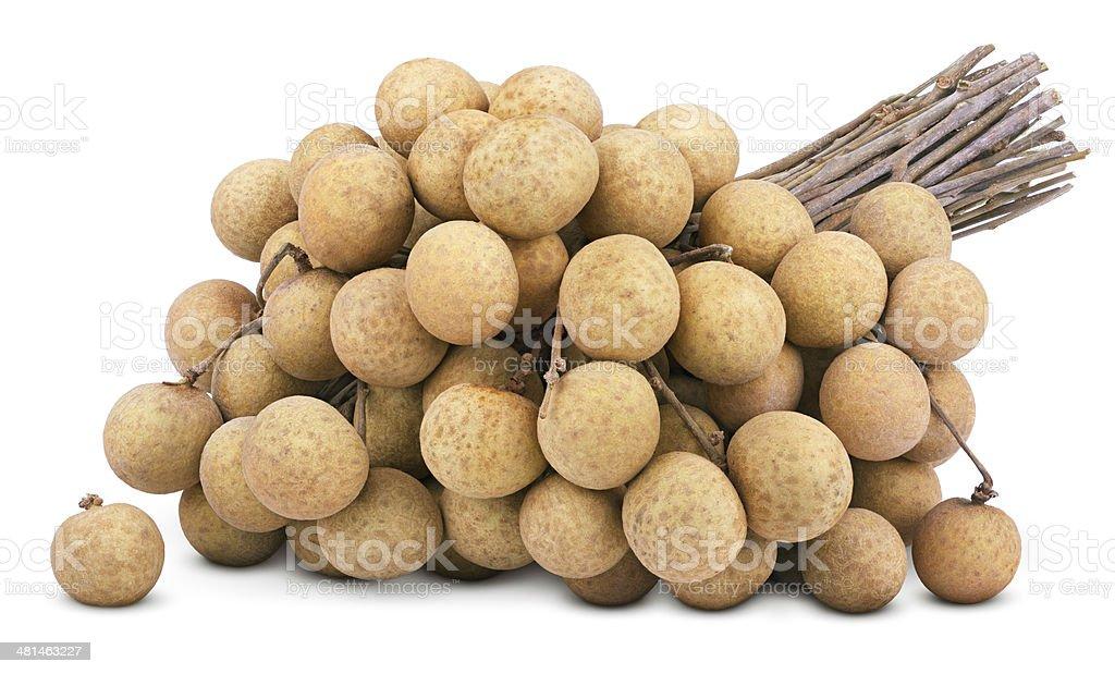 Longan fruit isolated on white stock photo