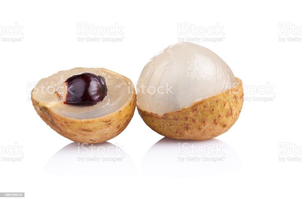 Longan fruit on a white background stock photo