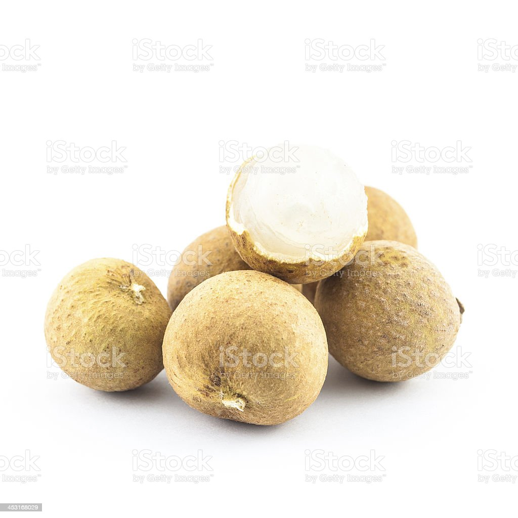longan isolated on a white stock photo