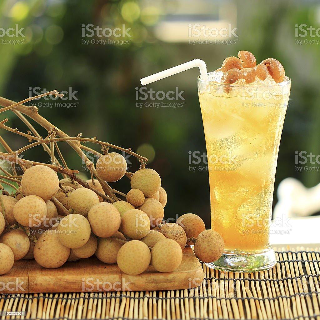 Longan juice cold water stock photo