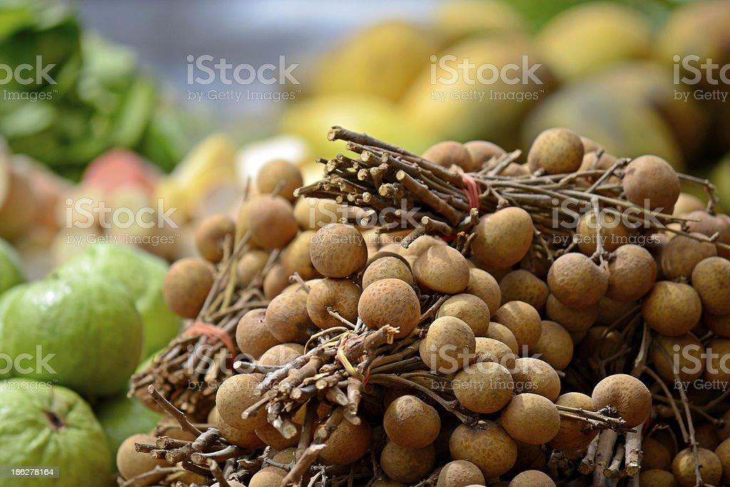 Longan tropical fruit royalty-free stock photo