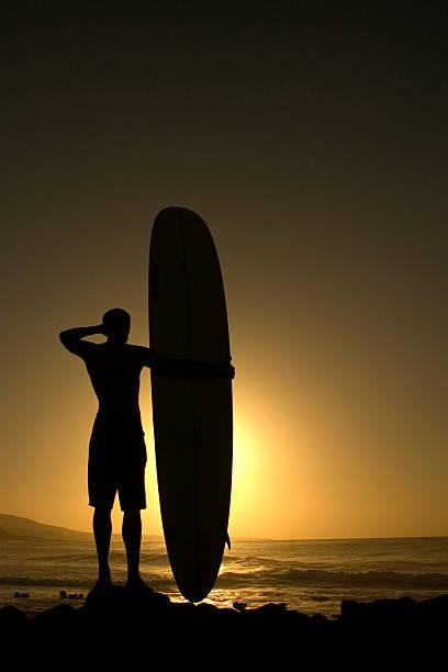 Longboard bei Sonnenuntergang 2 – Foto