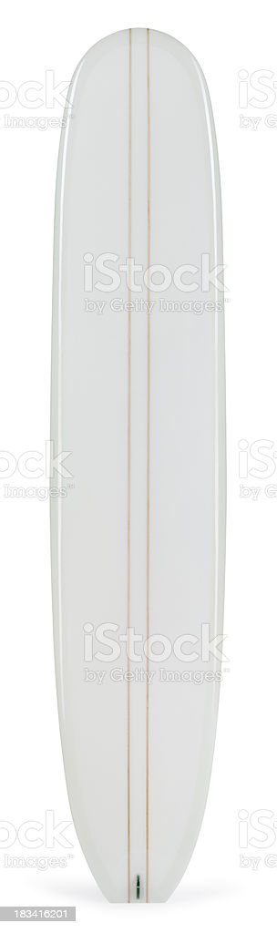 Longboard Isolated on White royalty-free stock photo