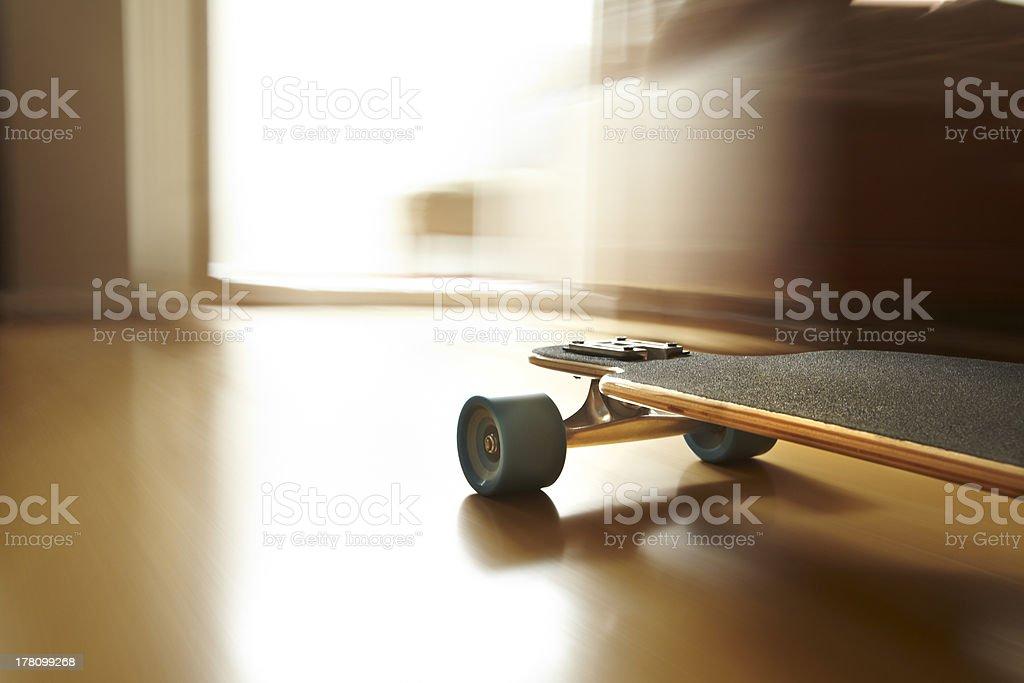 Longboard moving stock photo