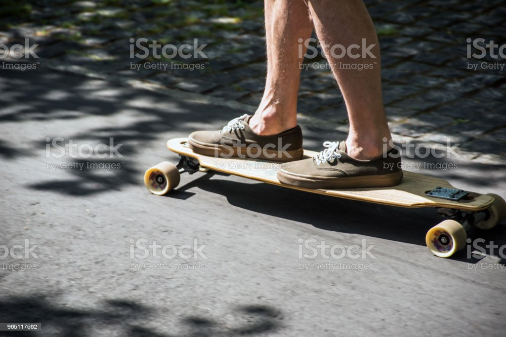 Longboard on the promenade royalty-free stock photo