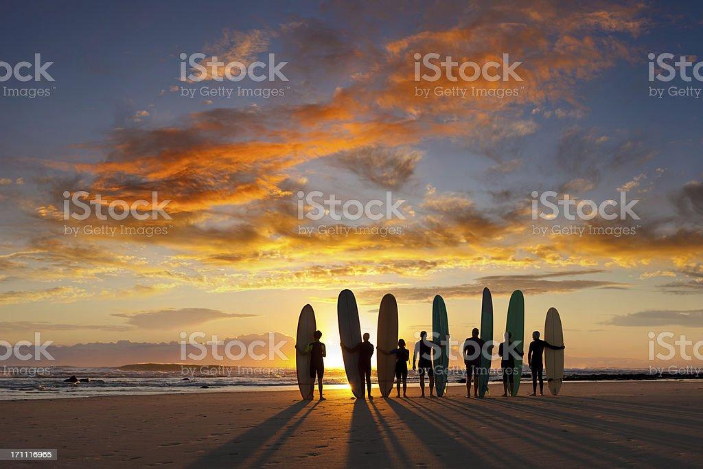 Longboard Sunrise royalty-free stock photo