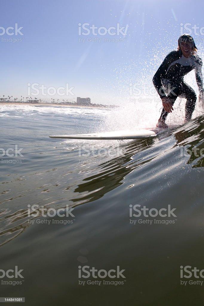 Longboard Surfer royalty-free stock photo
