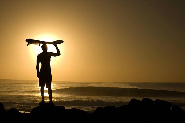 Longboarder bei Sonnenuntergang 4 – Foto