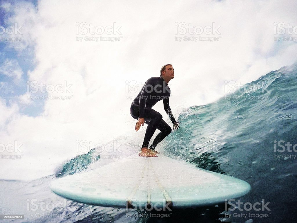 longboarder stock photo