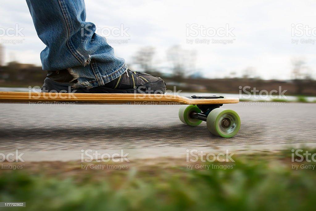 Longboarding on the promenade royalty-free stock photo