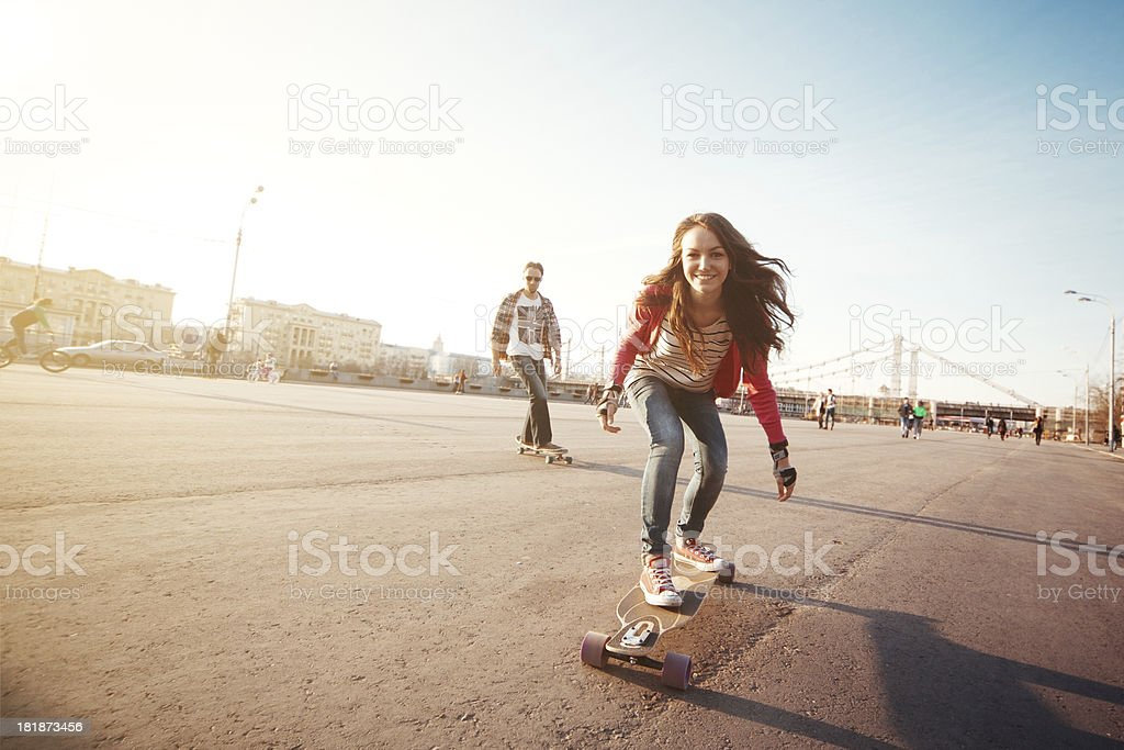 Longboarding - Lizenzfrei Aktiver Lebensstil Stock-Foto