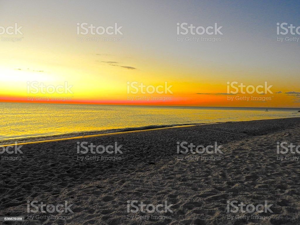 Longboat Key Beach in Sarasota, FL stock photo