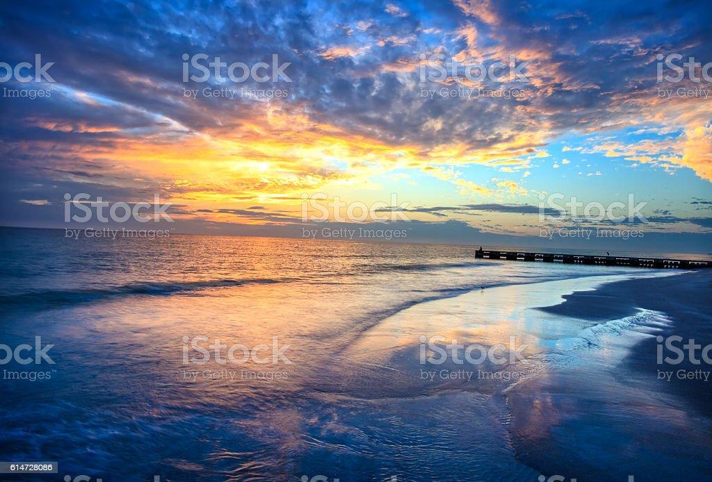 Longboat Sunset stock photo