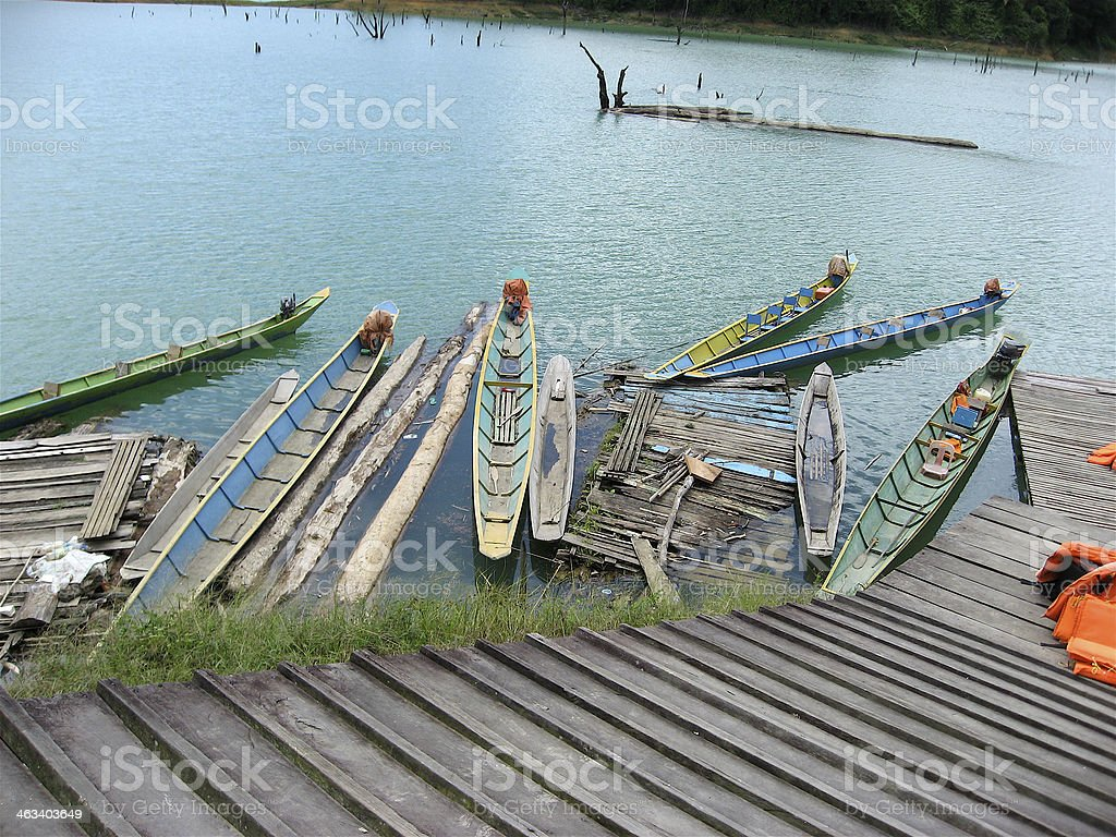 Longboats stock photo