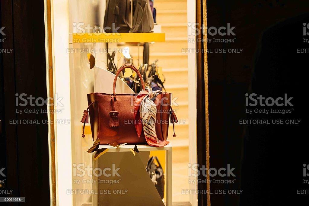 Windows En Tienda Longchamp Bolsa De La Compras Mujeres Foto BeQrodxWC