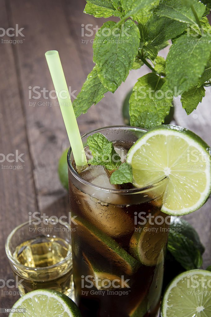 Longdrink in a glass royalty-free stock photo