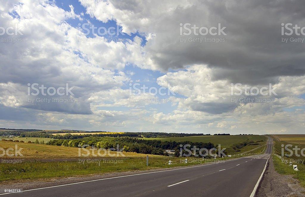 Longest road royalty-free stock photo