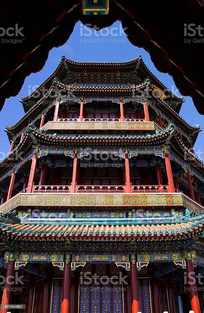 Longevity Hill Tower Summer Palace Beijing China stock photo