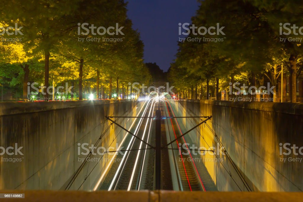 longexposure photography at Hannover, the capital city of lower saxony in Germany zbiór zdjęć royalty-free
