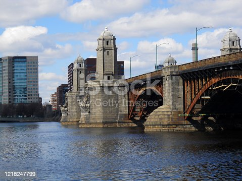 Photo of the Longfellow Bridge taken in the spring of 2011