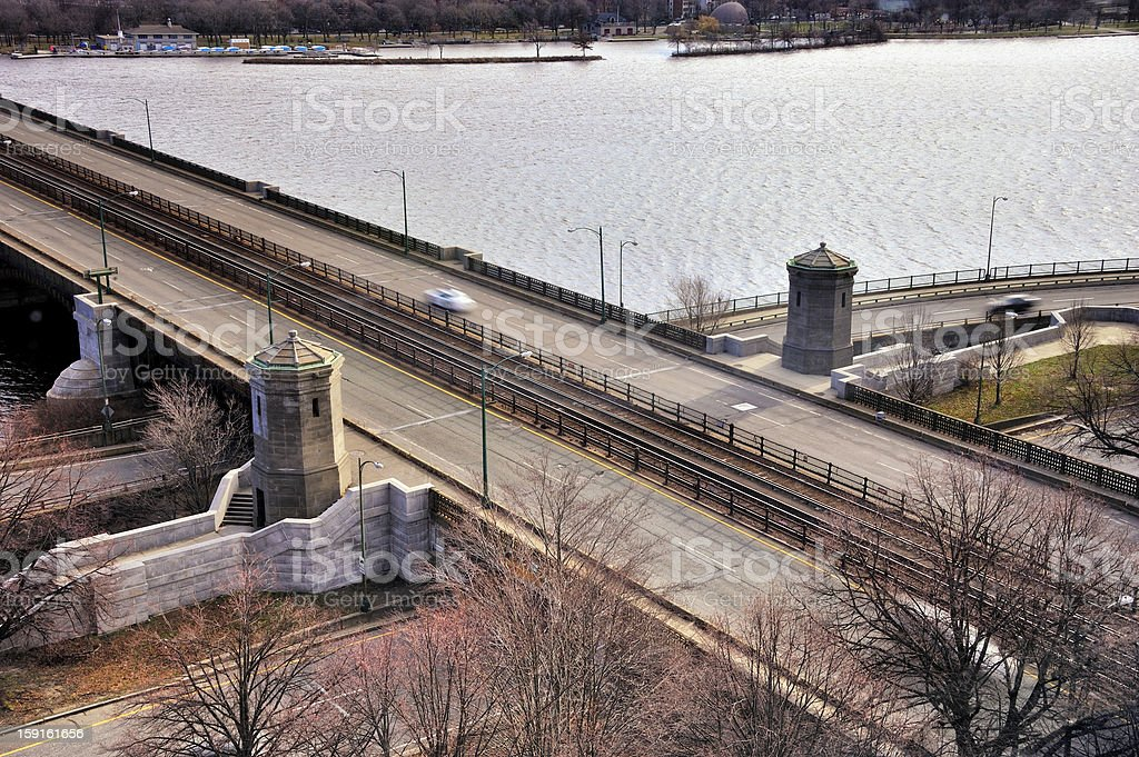 Longfellow Bridge Sky View royalty-free stock photo