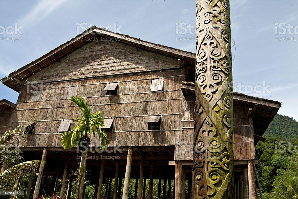 longhouse royalty-free stock photo
