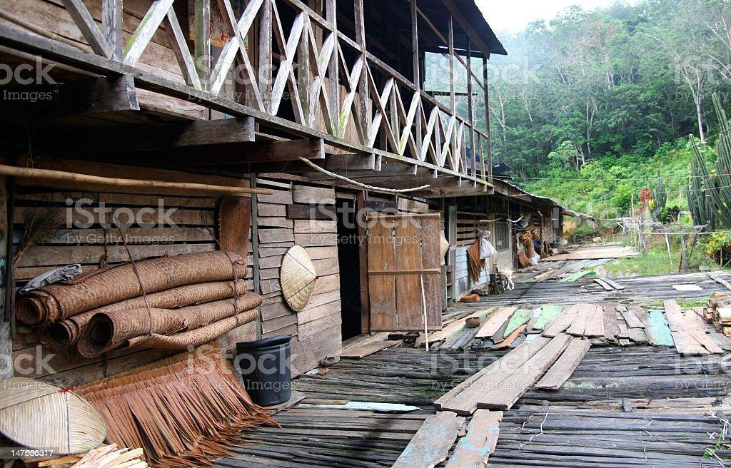 longhouse stock photo
