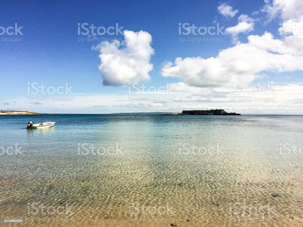 Longis Bay, Alderney stock photo