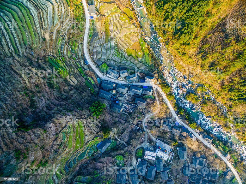 Longji Terraced campos Longsheng, Guilin, China, foto de stock royalty-free