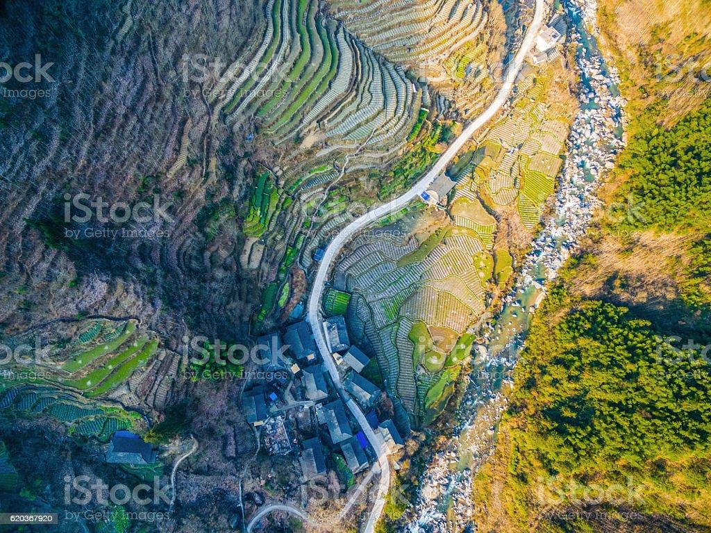 Longji taras pól w Longsheng, Guilin, Chiny zbiór zdjęć royalty-free