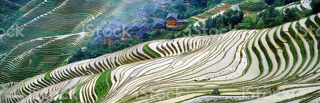 Longji village stock photo