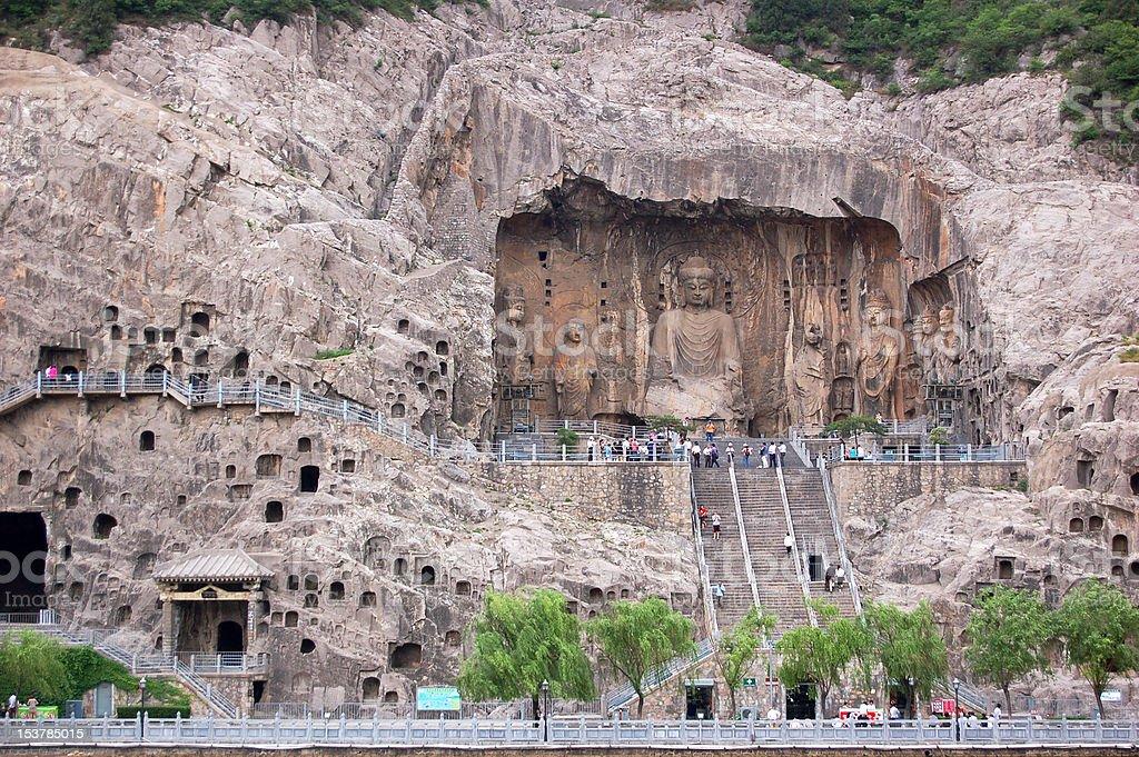 Longmen Grottoes in China stock photo