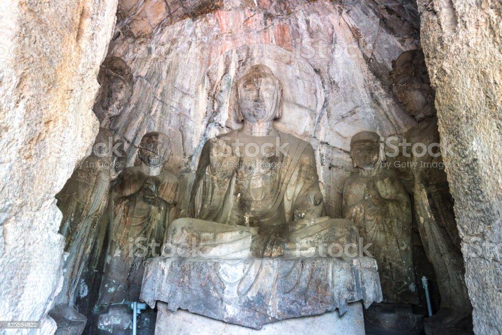 Longmen Grottoes Luayang China stock photo