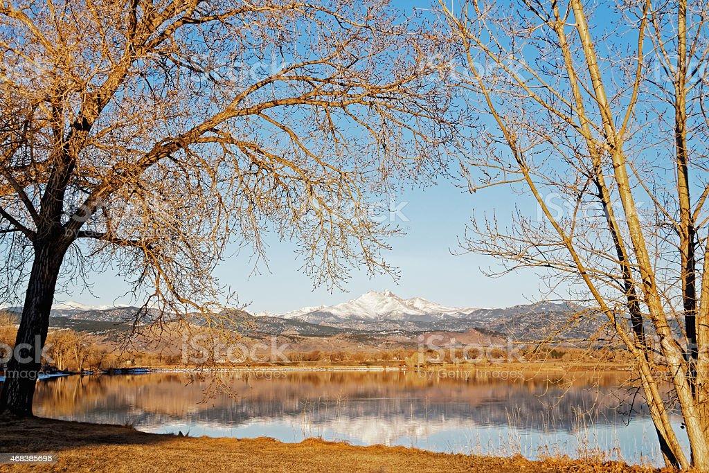 Longs Peak and the Colorado Front Range stock photo