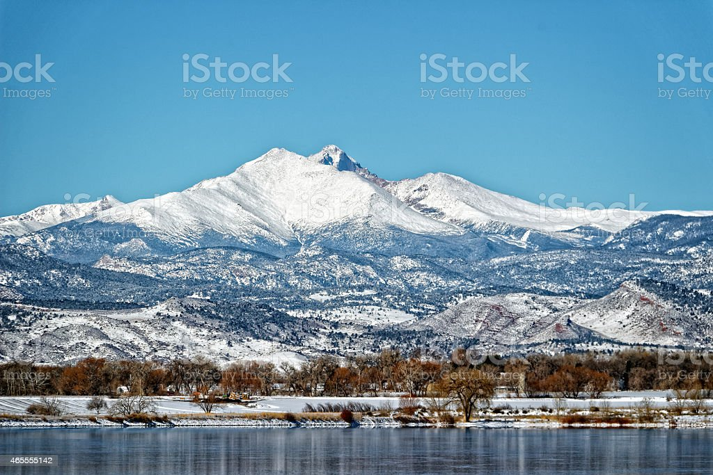 Longs Peak Fourteener in Longmont stock photo