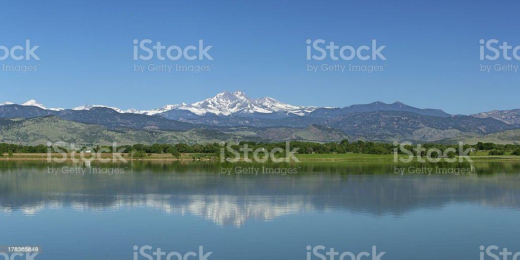 Longs Peak from Longmont, Colorado stock photo