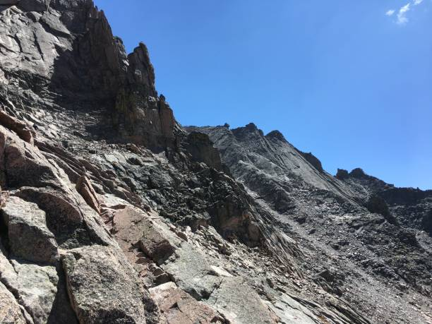 Longs Peak-caminata a la cima - foto de stock