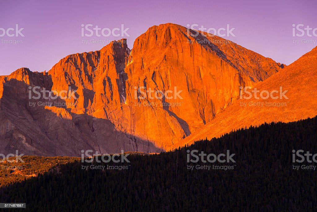 Longs Peak in Rocky Mountain National Park stock photo
