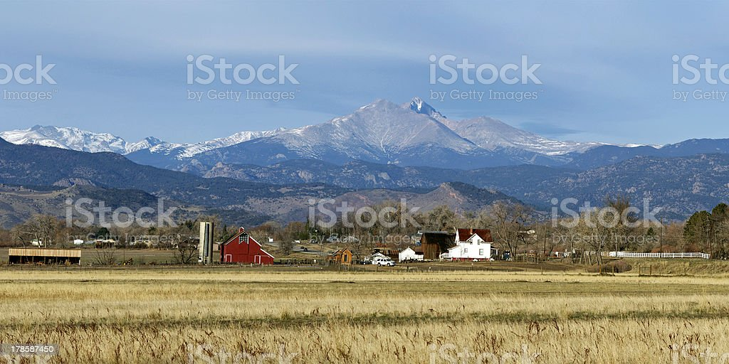 Longs Peak in the Fall stock photo