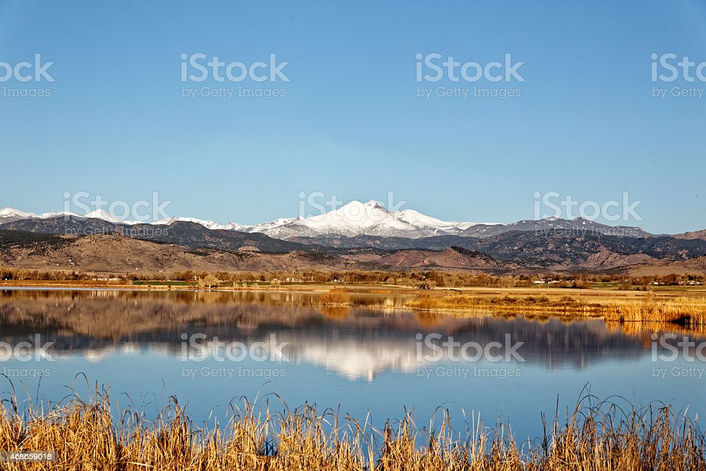 Longs Peak Mountain Col stock photo