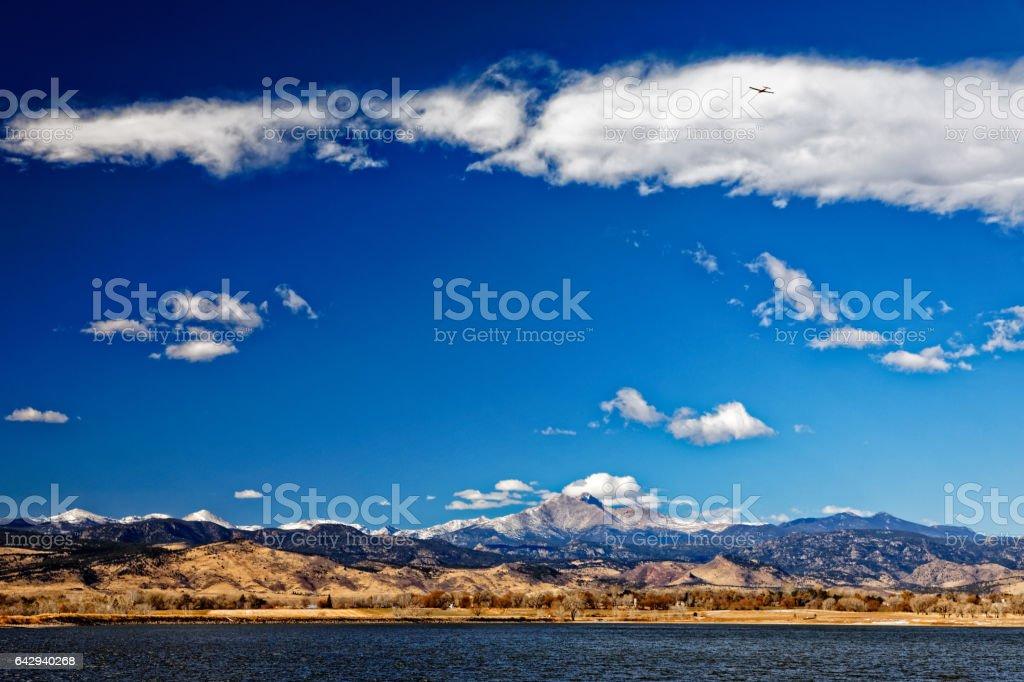 Longs peak Mountain Longmont stock photo
