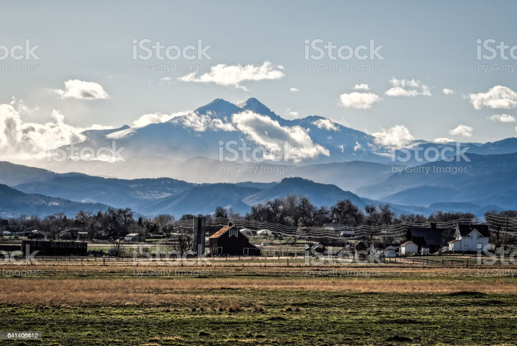 Longs Peak Mountain stock photo