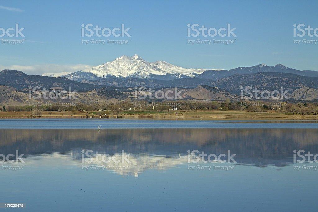 Longs Peak Panorama from Longmont Colorado stock photo
