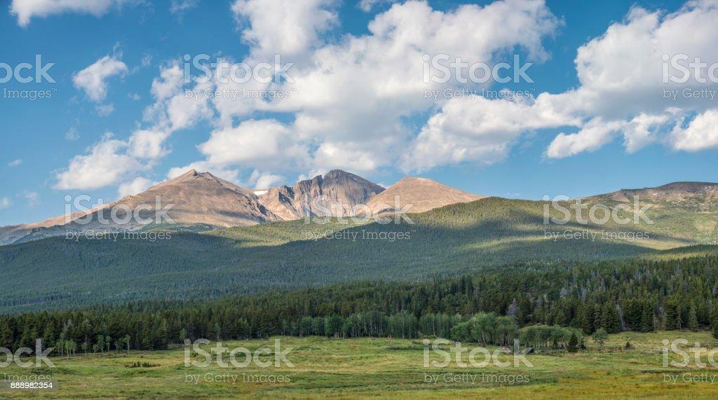 Longs Peak panorama stock photo