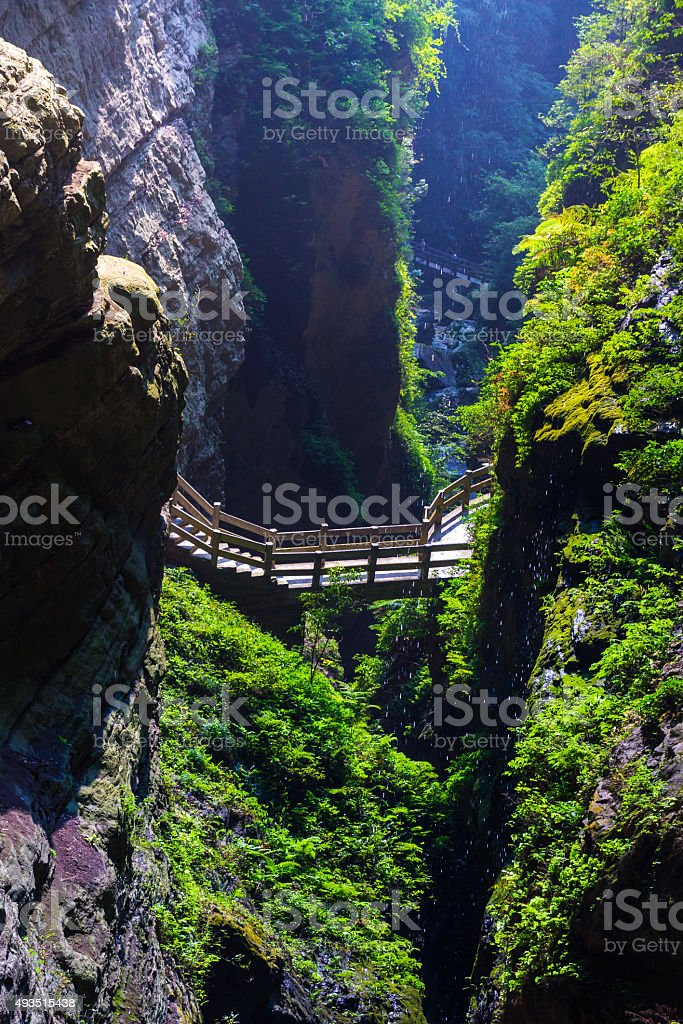 Longshuixia Fissure Gorge stock photo