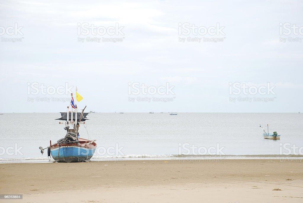 Longtail boat e praia - Foto de stock de Aventura royalty-free