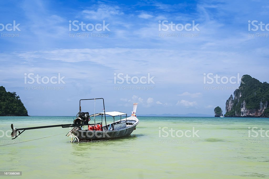longtail boat koh phi pi island thailand royalty-free stock photo